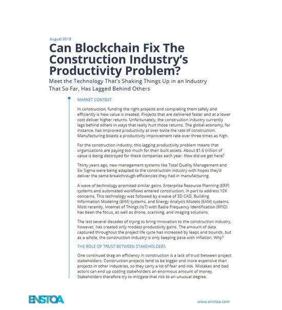 Can Blockchain Fix The Construction Industry's Productivity Problem?